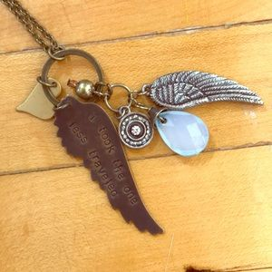 Jewelry - Antique gold charmed necklace.